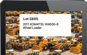 Locate equipment at the auction site